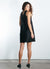 Jackie-O Lace Up Linen Tunic Dress Black