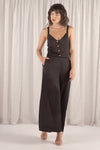 Amber Front Button Overall Jumpsuit