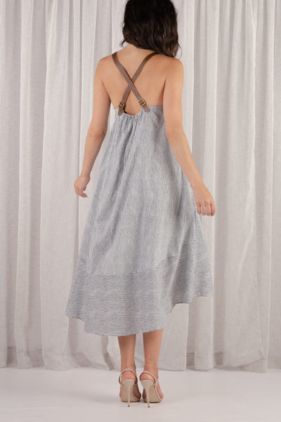 Maldives Leather Strap Maxi Dress