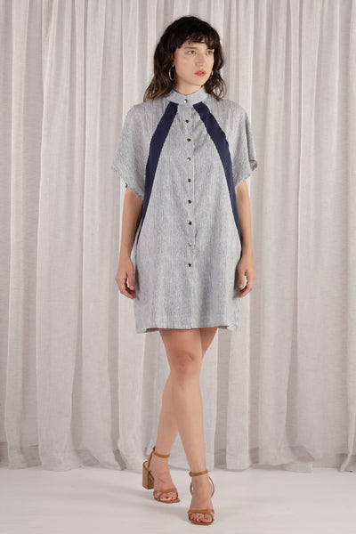 Skye Stripes Shirt Dress
