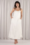 Young Blood Linen Swing Maxi - White