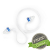 Eargasm High Fidelity Earplugs: Transparent Edition + Free Bonus  (Connector Cord + Cleaning Kit)