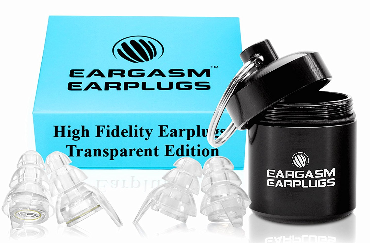 Eargasm High Fidelity Earplugs: Transparent Edition