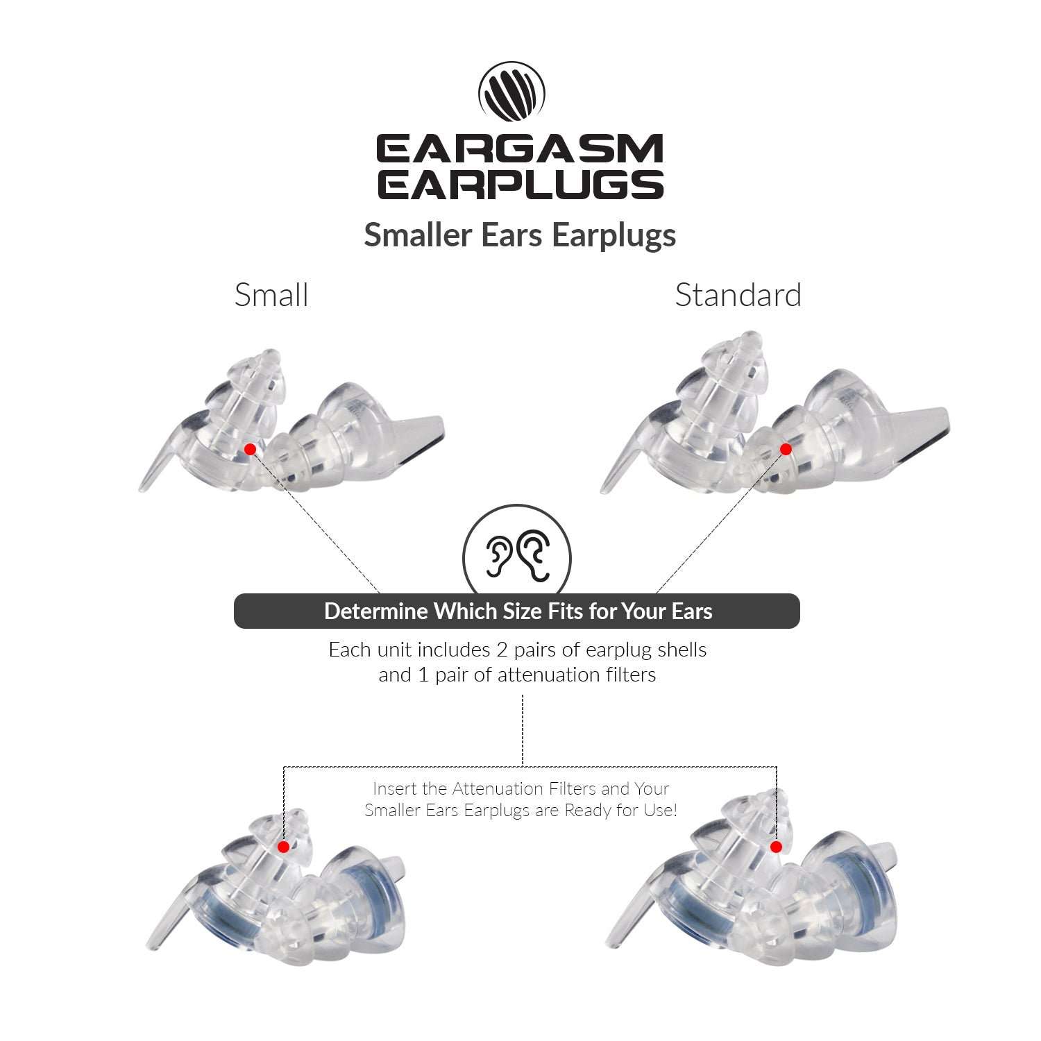 Eargasm Smaller Ears Earplugs