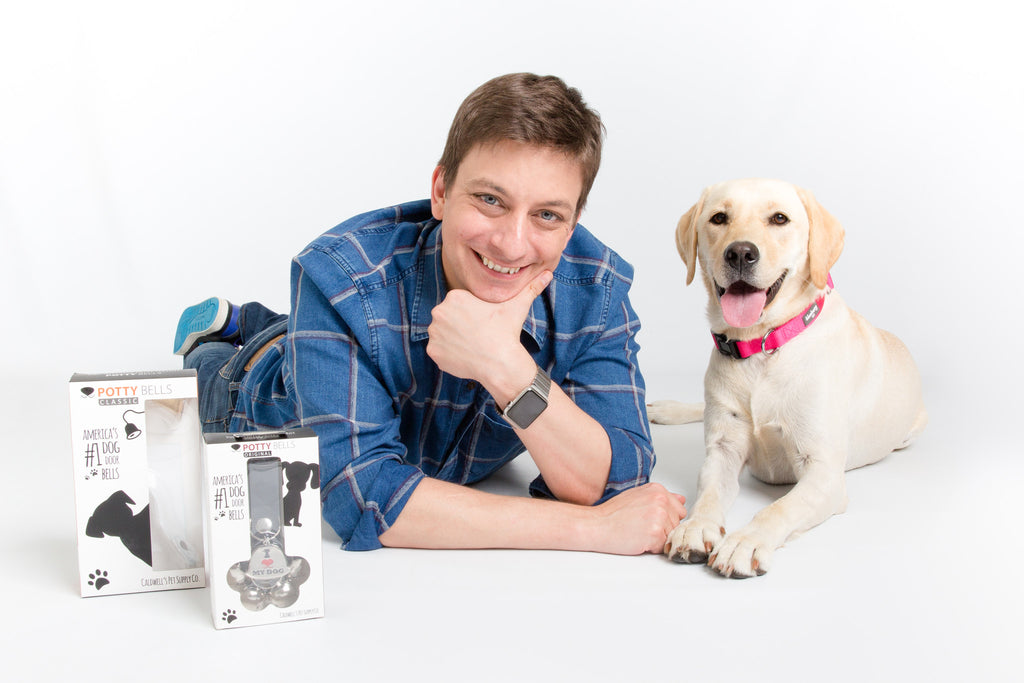 Zak George Demonstrates How to Use a Dog Doorbell with Potty Bells