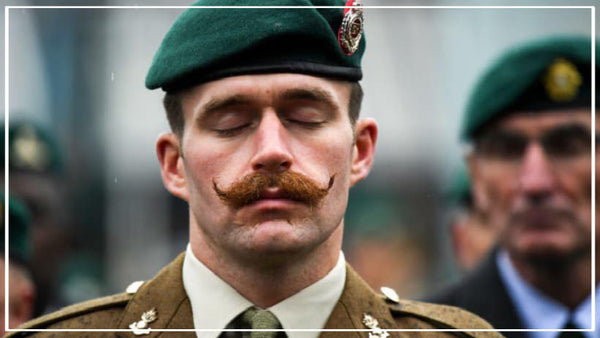 British Army and Navy mustache-only ruling