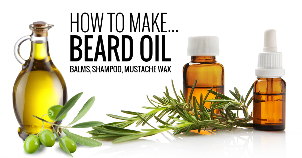 DIY Beard Oil, Balm, Shampoo, and Mustache Wax at Home