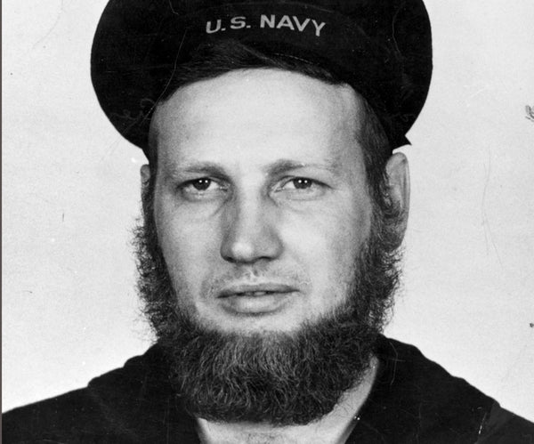 Before 1984 beards actually were allowed in the Navy
