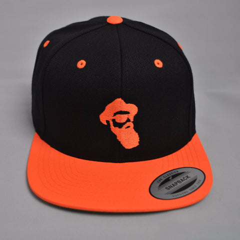 Real Bearded Men Snap Back - Halloween Limited Edition (Orange On Black)