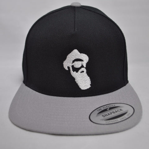 Real Bearded Men Snap Back - Black on Grey - Real Bearded Men