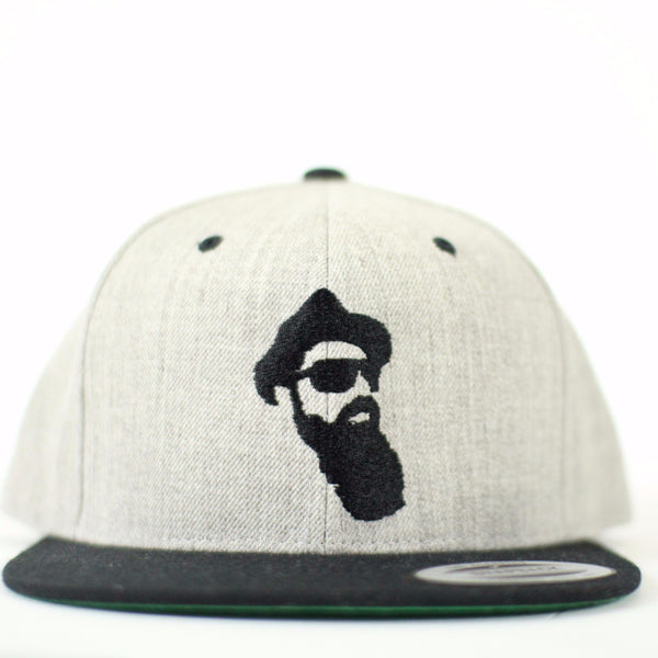 Real Bearded Men Snap Back - Heather Grey and Black - Real Bearded Men - 1