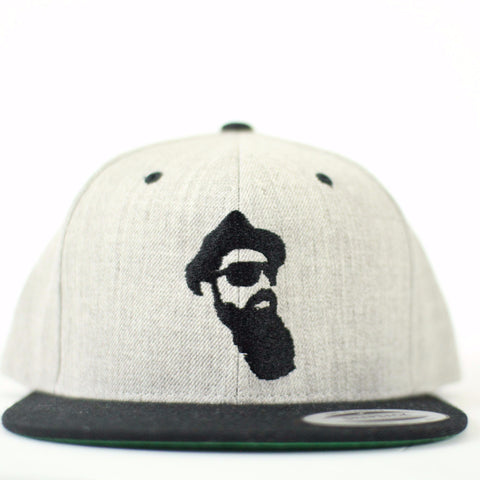 Real Bearded Men Snap Back - Heather Grey and Black - Real Bearded Men