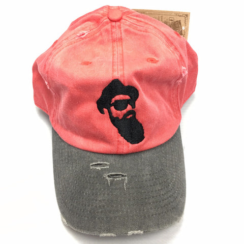 Real Bearded Men Distressed Hat - Red and Grey - Real Bearded Men