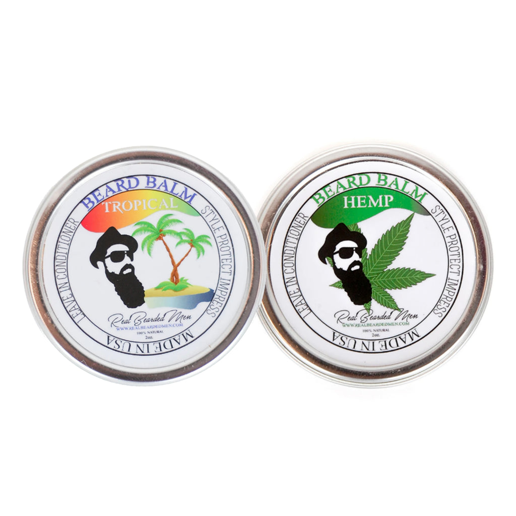 Pack of 2 Beard Balms Bundle - Real Bearded Men