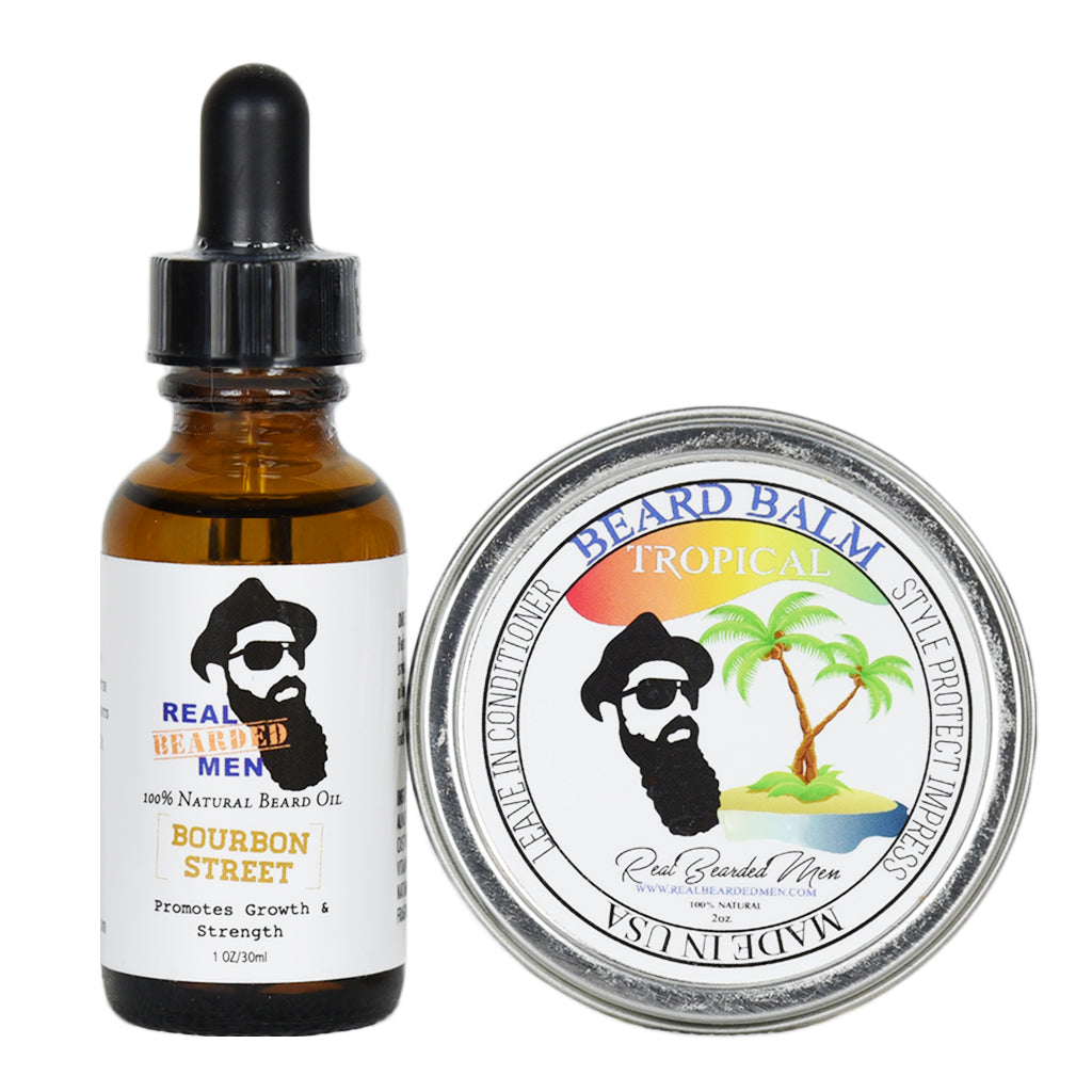 beard balm and oil combo