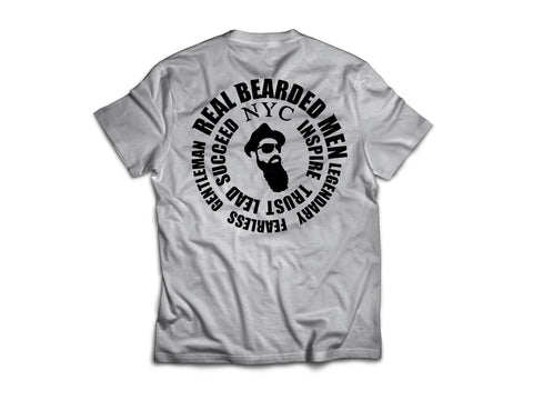 Real Bearded Men - Premium Circle Logo T-Shirt - Real Bearded Men
