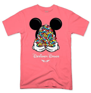 FLY - Designer Drugs Toons Tee-MENS CLOTHING-FLY STREET LIFE-Coral-S-streetwear-from-FlyStreetLife