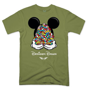 FLY - Designer Drugs Toons Tee-MENS CLOTHING-FLY STREET LIFE-Military Green-S-streetwear-from-FlyStreetLife