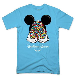 FLY - Designer Drugs Toons Tee-MENS CLOTHING-FLY STREET LIFE-Pacific Blue-S-streetwear-from-FlyStreetLife