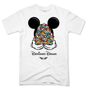 FLY - Designer Drugs Toons Tee-MENS CLOTHING-FLY STREET LIFE-White-S-streetwear-from-FlyStreetLife