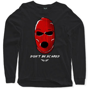 Fly - Don't Be Scared Long Sleeve Tee-MENS CLOTHING-FLY STREET LIFE-Black-S-streetwear-from-FlyStreetLife
