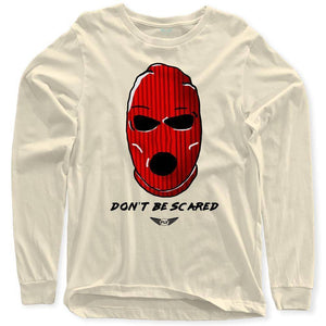 Fly - Don't Be Scared Long Sleeve Tee-MENS CLOTHING-FLY STREET LIFE-Cream-S-streetwear-from-FlyStreetLife
