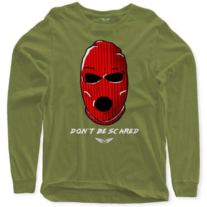 Fly - Don't Be Scared Long Sleeve Tee-MENS CLOTHING-FLY STREET LIFE-Military Green-S-streetwear-from-FlyStreetLife