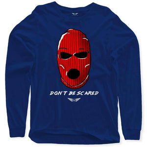 Fly - Don't Be Scared Long Sleeve Tee-MENS CLOTHING-FLY STREET LIFE-Navy-S-streetwear-from-FlyStreetLife