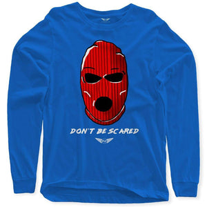Fly - Don't Be Scared Long Sleeve Tee-MENS CLOTHING-FLY STREET LIFE-Royal Blue-S-streetwear-from-FlyStreetLife