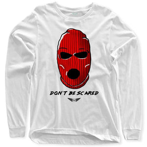 Fly - Don't Be Scared Long Sleeve Tee-MENS CLOTHING-FLY STREET LIFE-White-S-streetwear-from-FlyStreetLife