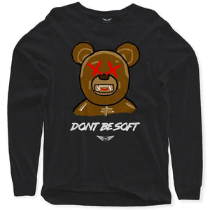 FLY - Don't Be Soft Art Long Sleeve-MENS CLOTHING-FLY STREET LIFE-Black-S-streetwear-from-FlyStreetLife
