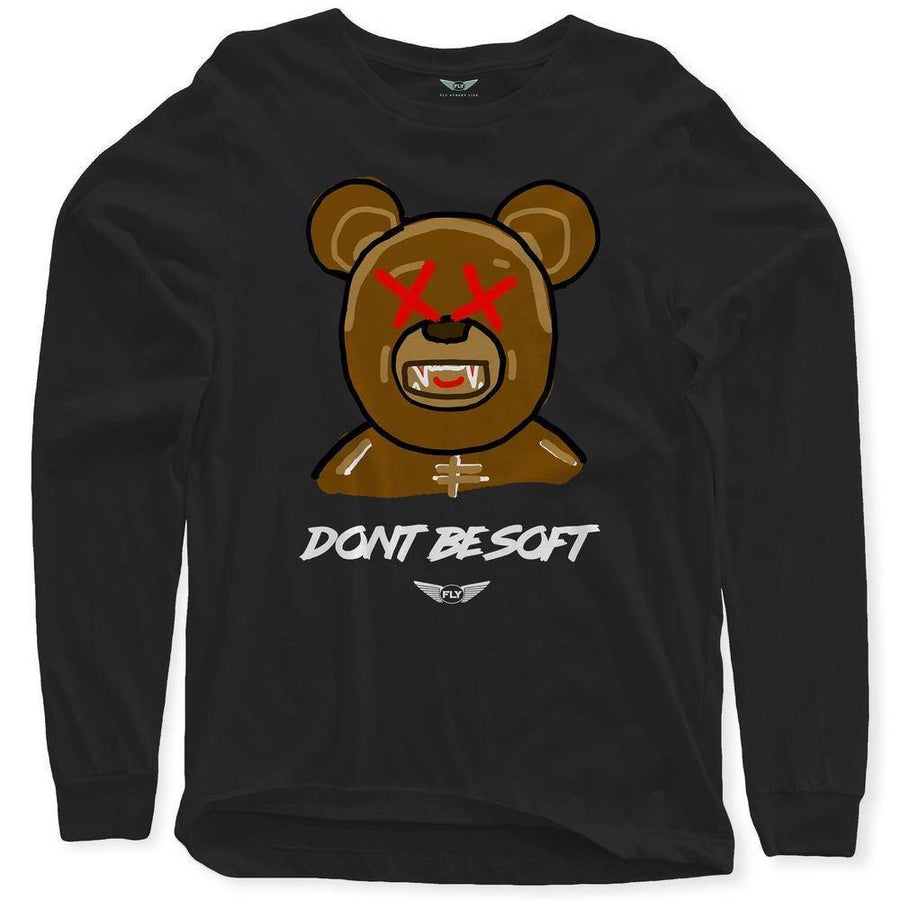 FLY - Don't Be Soft Art Long Sleeve-MENS CLOTHING-FLY STREET LIFE-Cream-S-streetwear-from-FlyStreetLife