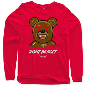 FLY - Don't Be Soft Art Long Sleeve-MENS CLOTHING-FLY STREET LIFE-Red-S-streetwear-from-FlyStreetLife