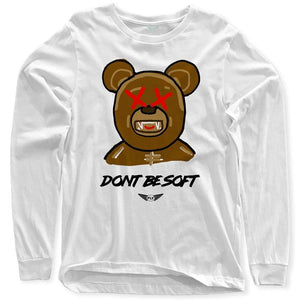 FLY - Don't Be Soft Art Long Sleeve-MENS CLOTHING-FLY STREET LIFE-White-S-streetwear-from-FlyStreetLife