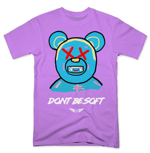 FLY - Don't Be Soft Blue V2 Tee-TEE-FLY STREET LIFE-LAVENDER-S-streetwear-from-FlyStreetLife