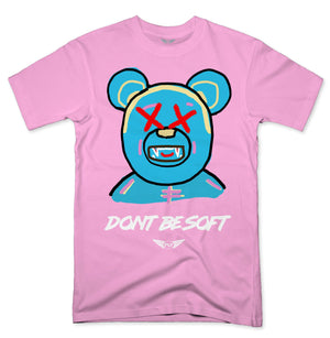 FLY - Don't Be Soft Blue V2 Tee-TEE-FLY STREET LIFE-LIGHT PINK-S-streetwear-from-FlyStreetLife
