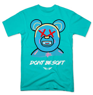 FLY - Don't Be Soft Blue V2 Tee-TEE-FLY STREET LIFE-PACIFIC BLUE-S-streetwear-from-FlyStreetLife