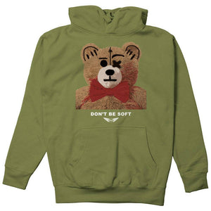 FLY - Don't Be Soft Hoodie-MENS CLOTHING-FLY STREET LIFE-Military Green-S-streetwear-from-FlyStreetLife
