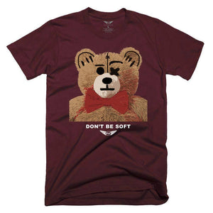 FLY - Don't Be Soft Tee-TEE-FLY STREET LIFE-Burgundy-S-streetwear-from-FlyStreetLife