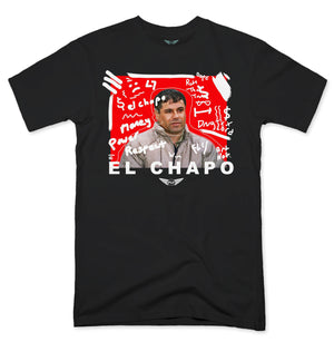 FLY - El Chapo Art White V2 Tee-TEE-FLY STREET LIFE-Black-S-streetwear-from-FlyStreetLife