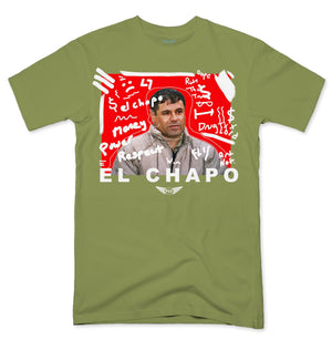 FLY - El Chapo Art White V2 Tee-TEE-FLY STREET LIFE-Military Green-S-streetwear-from-FlyStreetLife