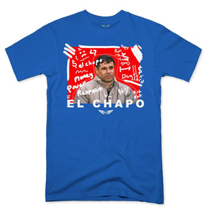 FLY - El Chapo Art White V2 Tee-TEE-FLY STREET LIFE-Royal Blue-S-streetwear-from-FlyStreetLife
