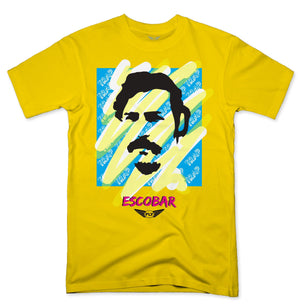FLY - ESCOBAR BLUE/YELLOW TRAP TEE - Fly Street Life