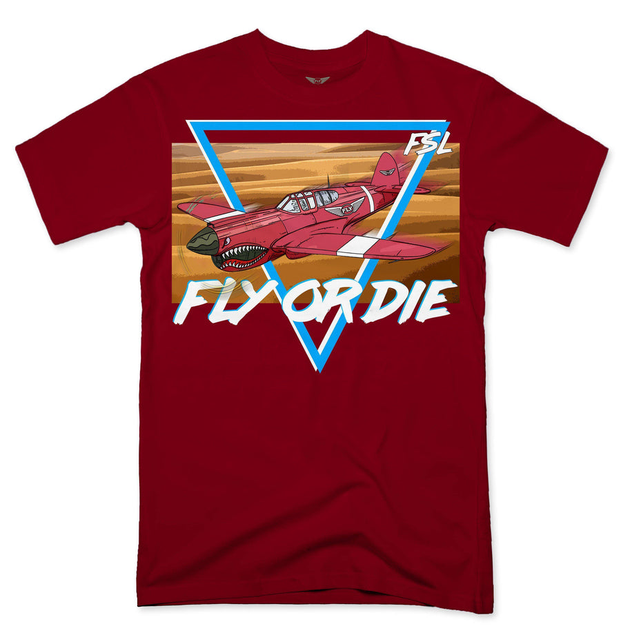 Fly - Fly Over The Desert Tee-MENS CLOTHING-FLY STREET LIFE-Black-S-streetwear-from-FlyStreetLife