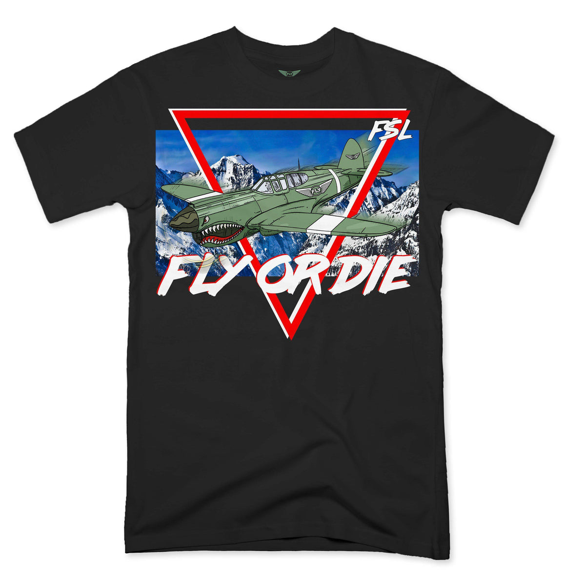 FLY - Fly Over The Mountain Tee-MENS CLOTHING-FLY STREET LIFE-Black-S-streetwear-from-FlyStreetLife
