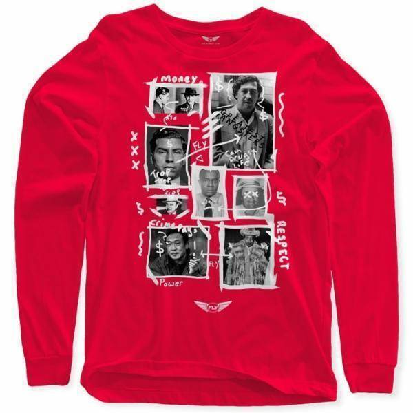 Fly - Greatest Gangsters Art Long Sleeve-MENS CLOTHING-FLY STREET LIFE-Red-S-streetwear-from-FlyStreetLife