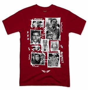 FLY - Greatest Gangsters Art Tee-MENS CLOTHING-FLY STREET LIFE-Burgundy-S-streetwear-from-FlyStreetLife