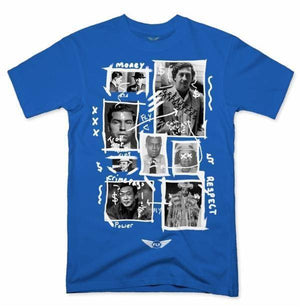 FLY - Greatest Gangsters Art Tee-MENS CLOTHING-FLY STREET LIFE-Royal Blue-S-streetwear-from-FlyStreetLife