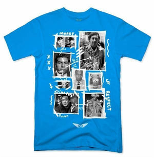FLY - Greatest Gangsters Art Tee-MENS CLOTHING-FLY STREET LIFE-Turquoise-S-streetwear-from-FlyStreetLife