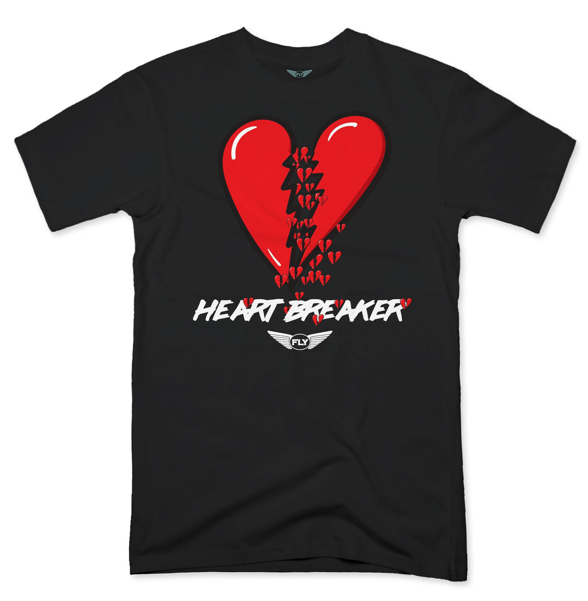 FLY - Heart Breaker Heart Tee-TEE-Fly Street Life-streetwear-from-FlyStreetLife